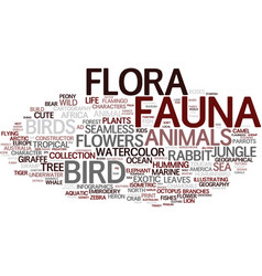Fauna word cloud concept vector