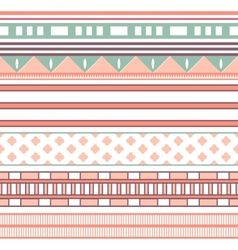 Tribal ethnic seamless stripe pattern vector