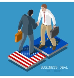 Usa europe deal people isometric vector