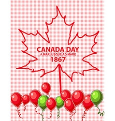 Happy canada day card in format vector