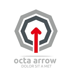 Logo octa arrow design element symbol icon vector