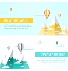Travel to mountains background adventure flyer vector