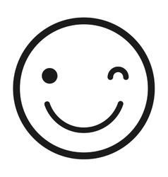 Happy face emoticon isolated icon design vector