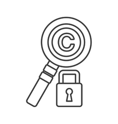 Lupe and padlock copyright design graphic vector