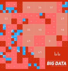 Abstract colorful financial big data graph vector