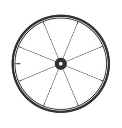 bicycle wheel symbol bike rubber mountain vector image