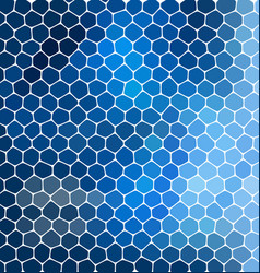 Blue mosaic composition with ceramic geometric vector