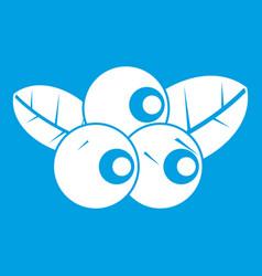 Blueberries icon white vector