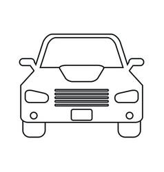 Car sedan vehicle transport icon linear vector