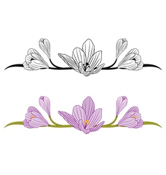Crocus set vector