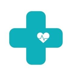 cross medical icon vector image vector image