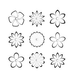 Flower bud set vector image vector image