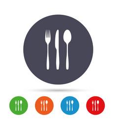 Fork knife tablespoon cutlery set vector