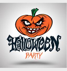 Halloween party with pumpkin vector