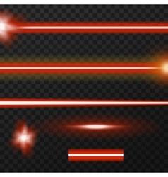Laser beams pack vector image vector image