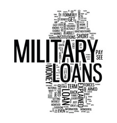 Military loans explained simply text background vector