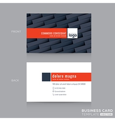 Modern dark grey business card name card template vector