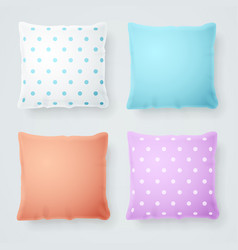 realistic detailed 3d pillow mock up vector image vector image