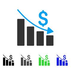 Recession flat icon vector