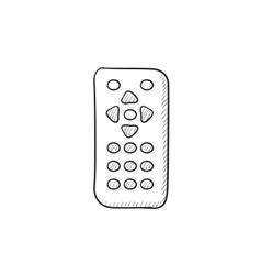 Remote control sketch icon vector image