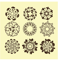 set of vintage design elements10 vector image vector image