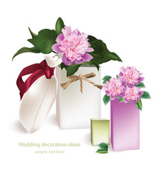 spring delicate flowers bouquet card beautiful vector image vector image