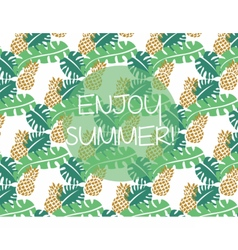 Summer pattern background vector image vector image