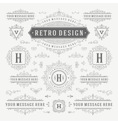 Vintage ornaments decorations design vector