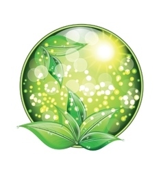 World environment day sign on white background vector image