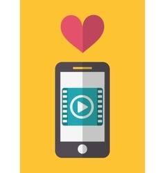 Smartphone social network design vector