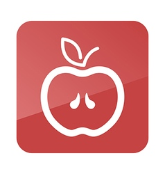 Apple outline icon fruit vector