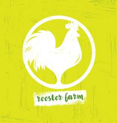 organic farm fresh healthy food eco concept vector image