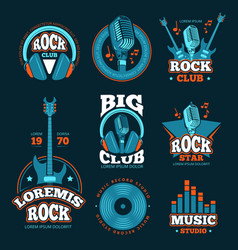 Music studio production labels musical vector