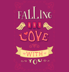 falling in love with you vector image