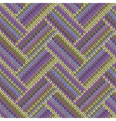 Multicolored seamless spring knitted pattern vector