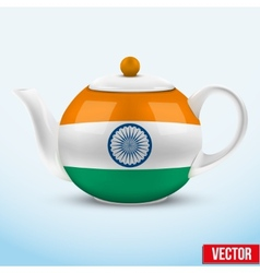 Indian ceramic teapot vector