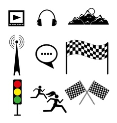 Set of templates on sports and rest vector
