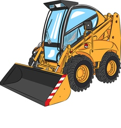 Mini excavator a vector