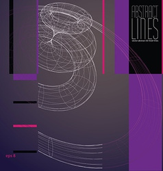 Abstract lines communication and digital te vector image