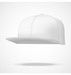 Layout of male white rap cap vector