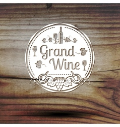 Old styled wine label for your business shop vector