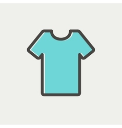 T-shirt thin line icon vector