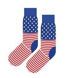 Usa patriot socks clothing accessory is an vector