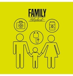 Family medical design vector