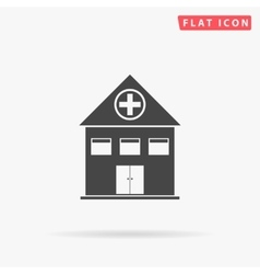 Hospital simple flat icon vector