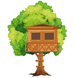 One treehouse in the tree vector