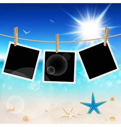 seascape and photo frames vector image