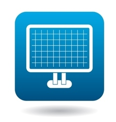 Computer monitor with architecture program icon vector