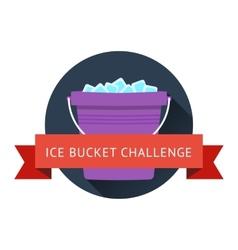 Als ice bucket challenge concept vector