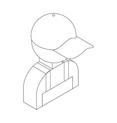 Auto mechanic icon isometric 3d style vector